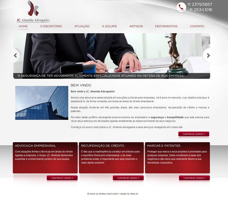 Criação de site para Advogados – JC Almeida