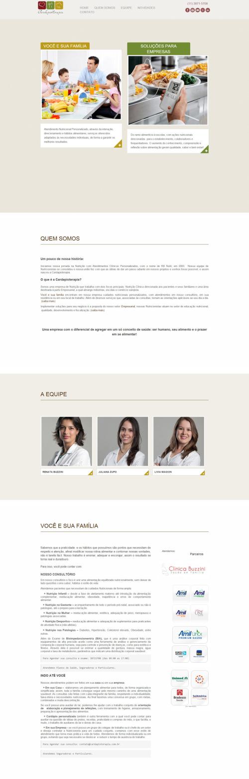 Criação de sites para Médicos Cardioterapia