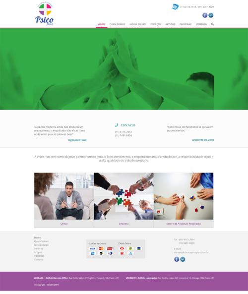 Criação de sites para Médicos Psicoplus
