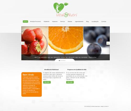 Criação de sites para Médicos Vital e Nutri